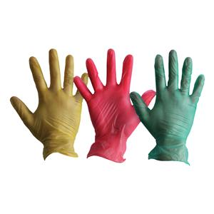 Colour Coded Vinyl Gloves
