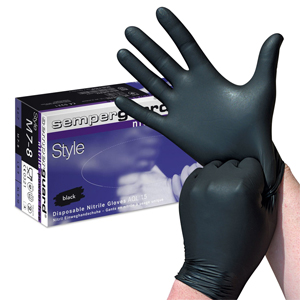 Powder-Free Black Nitrile Gloves