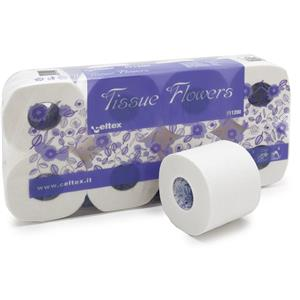 Flower 3 ply Toilet Paper Roll x8