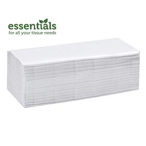 Essentials Plus White Pure Pulp Z Fold Hand Towels