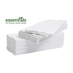 Essentials Plus White 2Ply V Fold Hand Towels