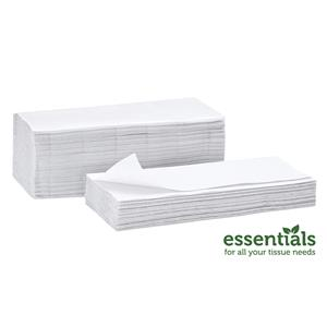 Essentials Plus White 1Ply V Fold Hand Towels